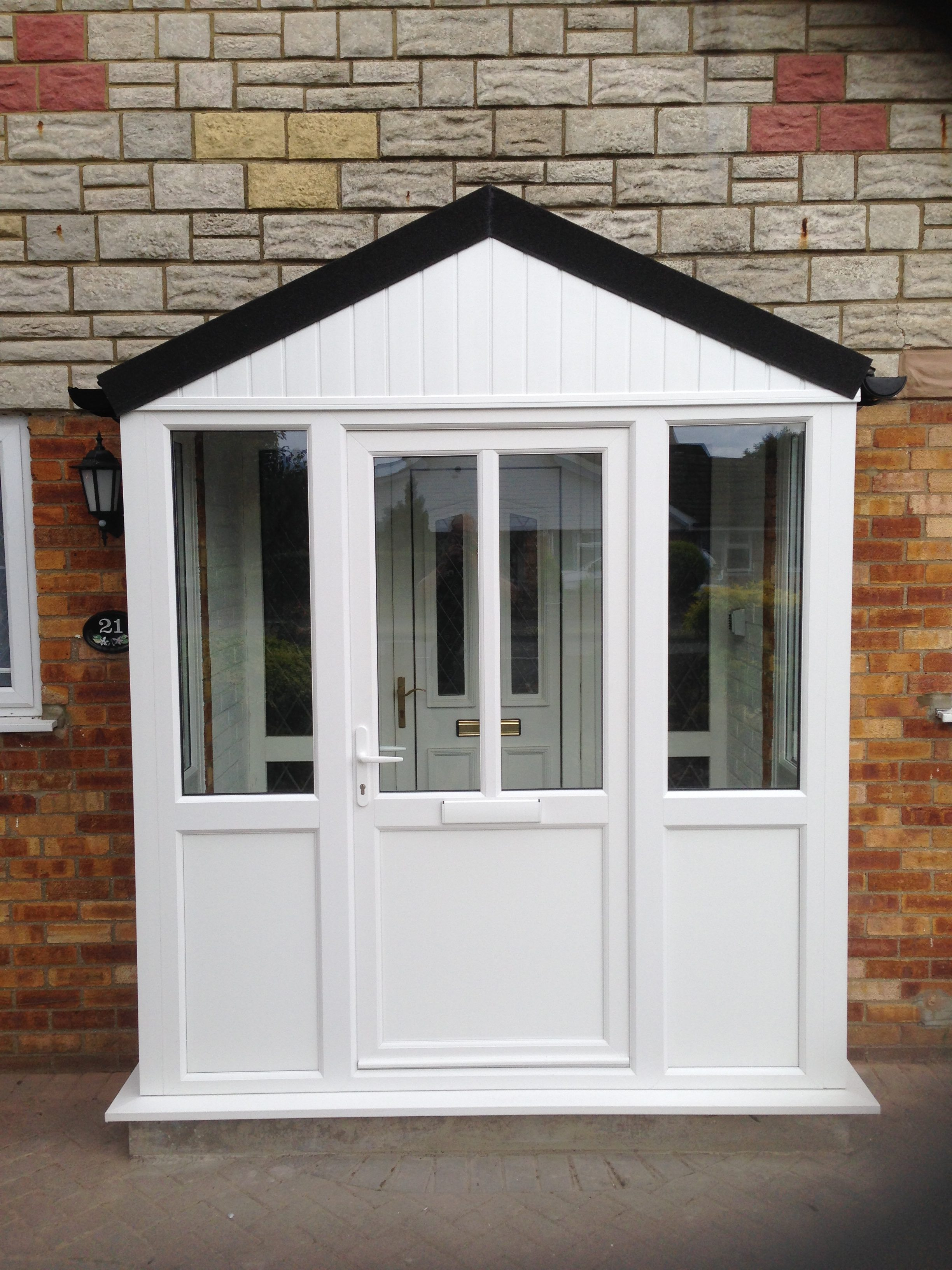 upvc porch with warm roof fitted in the bedfordshire are