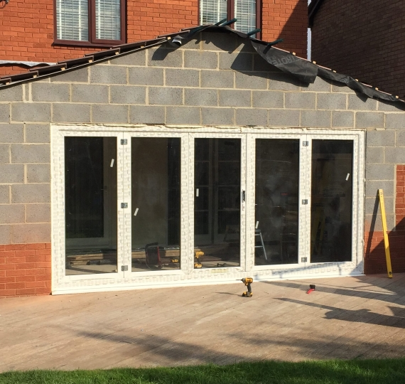 bifolding doors fitted in st neots  cambs