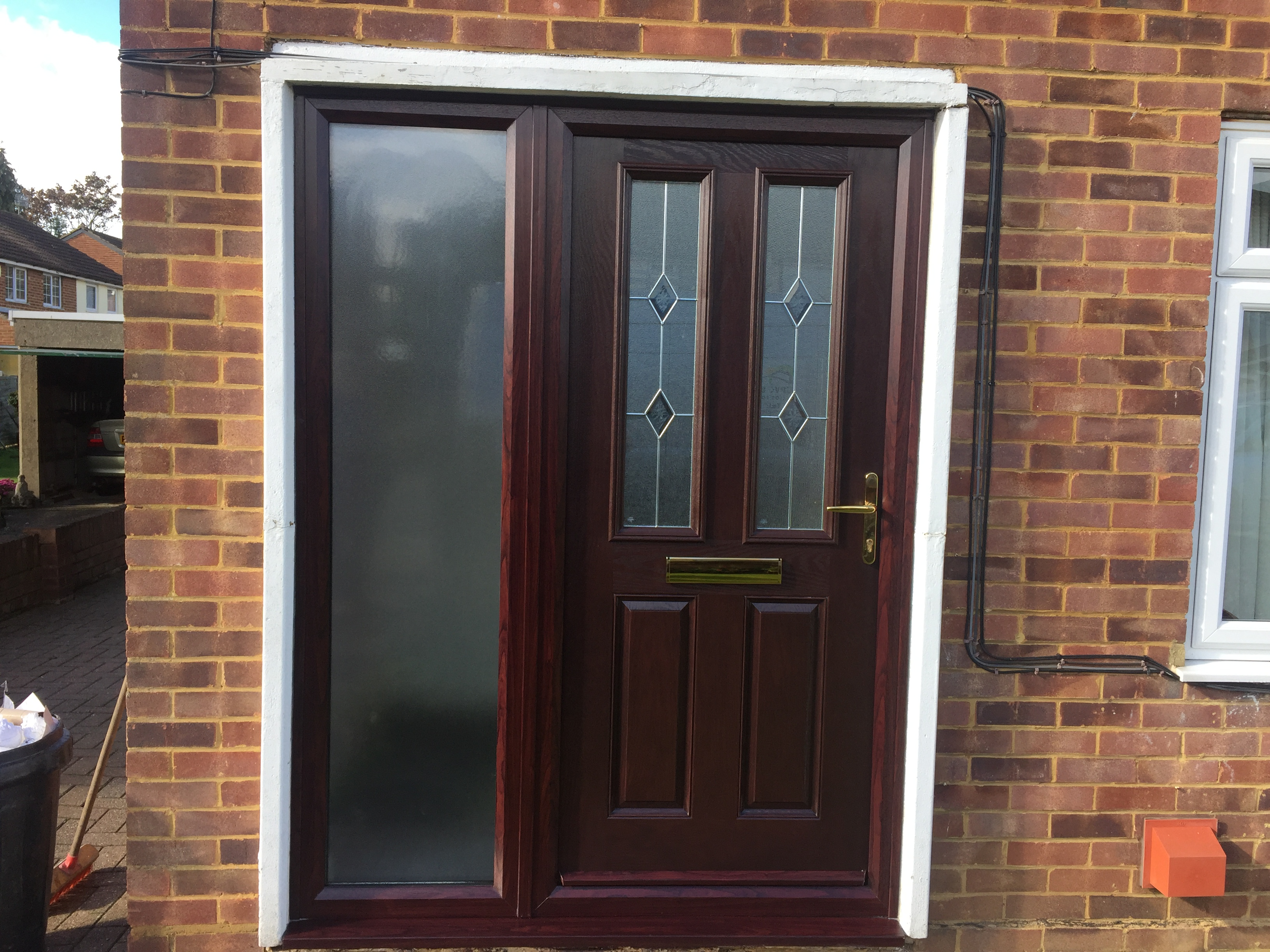 composite front door fitted today in st neots cambs