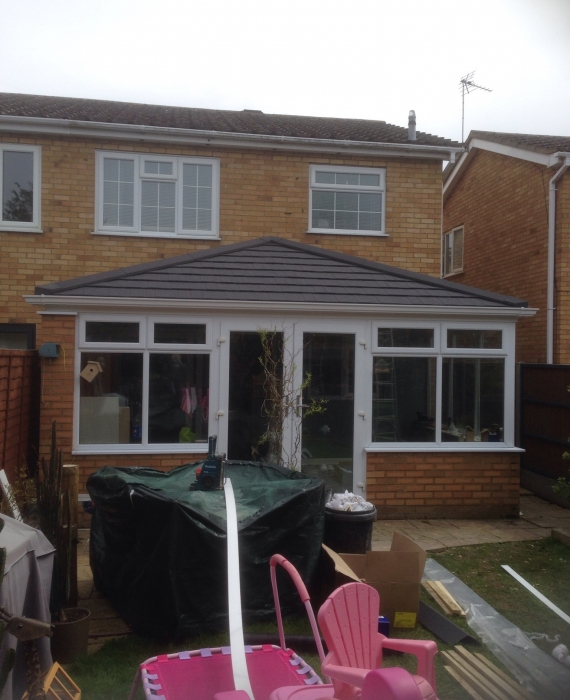 guardian warm roof fitted in st neots cambs